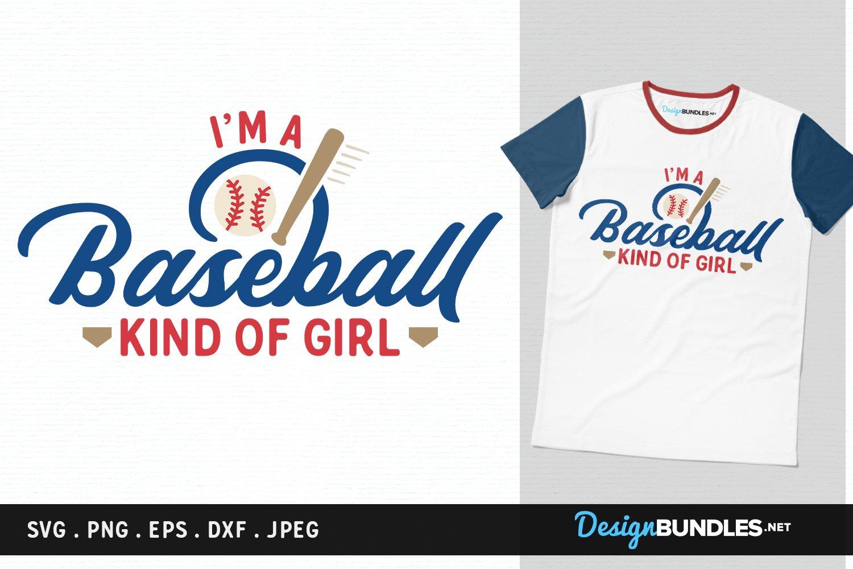 Download Baseball Kind Of Girl Svg Cut File Printable