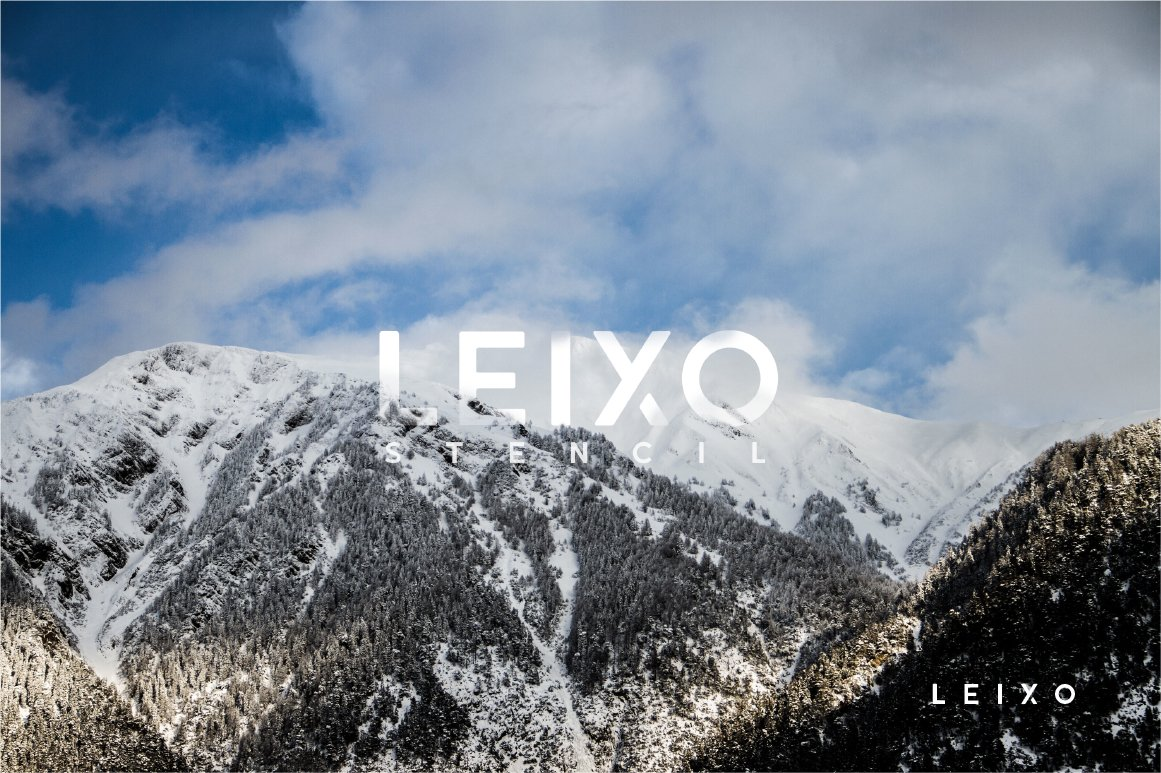 Leixo - A Stencil Font Family example image 4