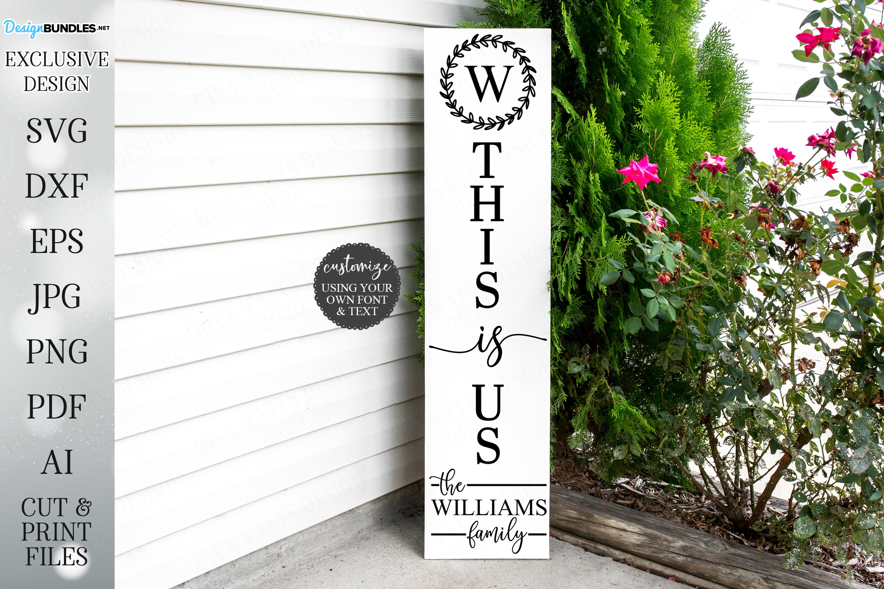 This Is Us - Vertical Welcome Sign example image 1