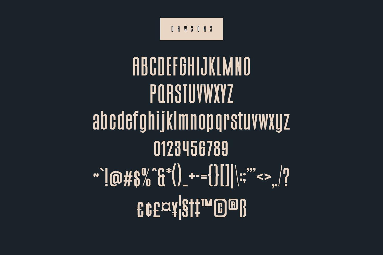 Dawsons Script - Free Sans Font example image 8