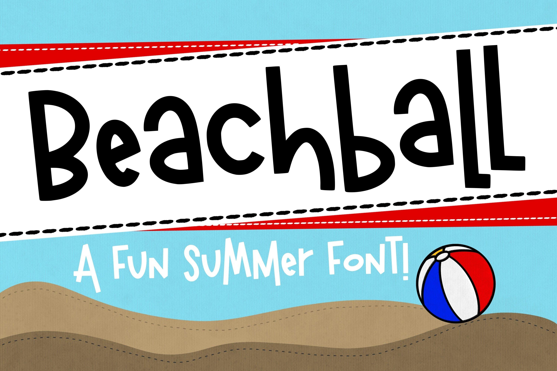 Beachball a Fun Summer Font example image 1
