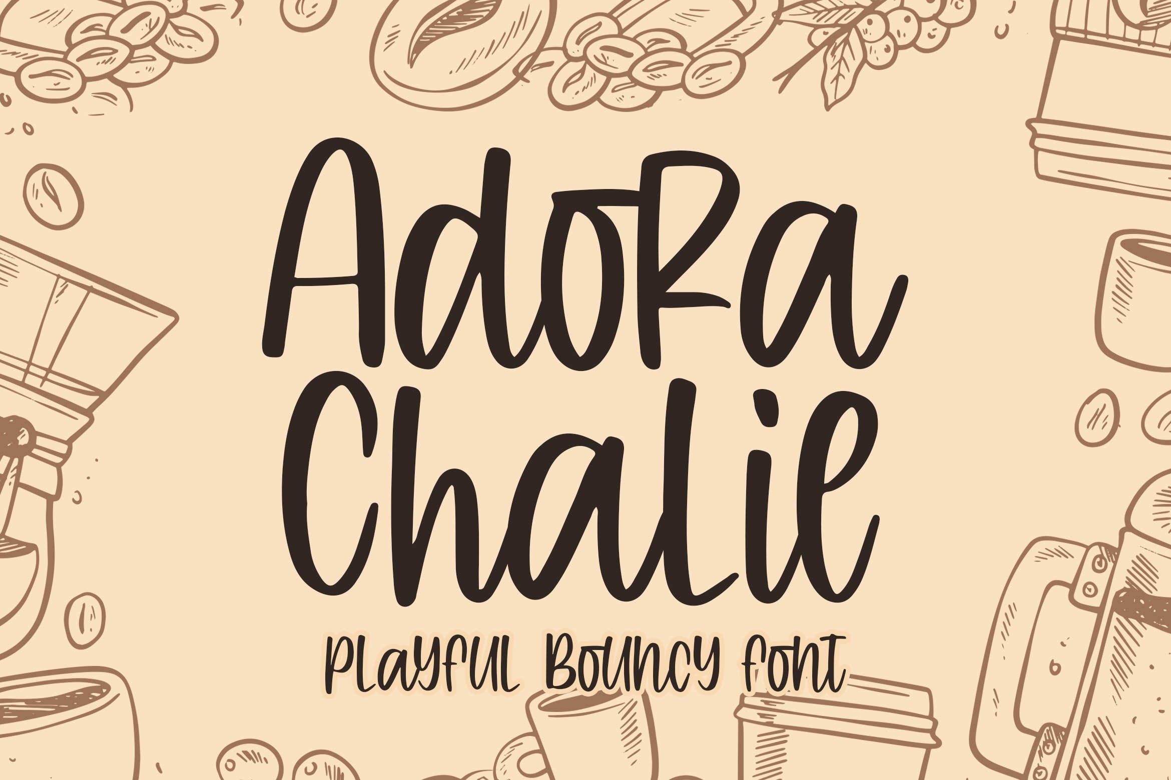 Adora Chalie - Playful Bouncy Font example image 1