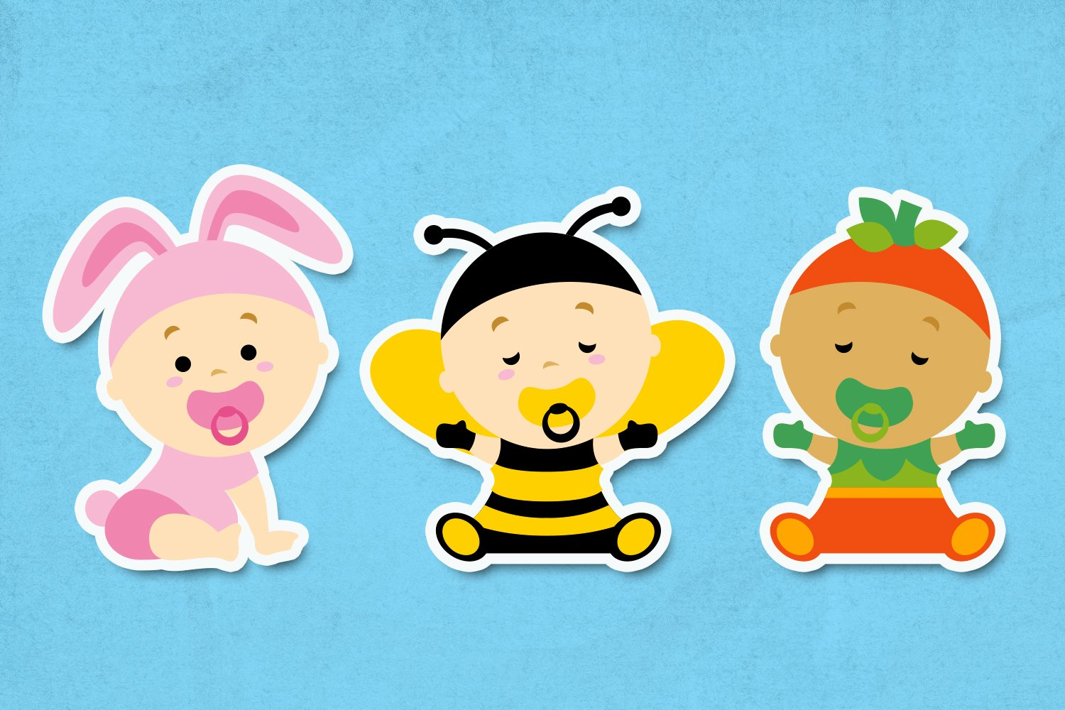 Baby girl in costume illustrations example image 3