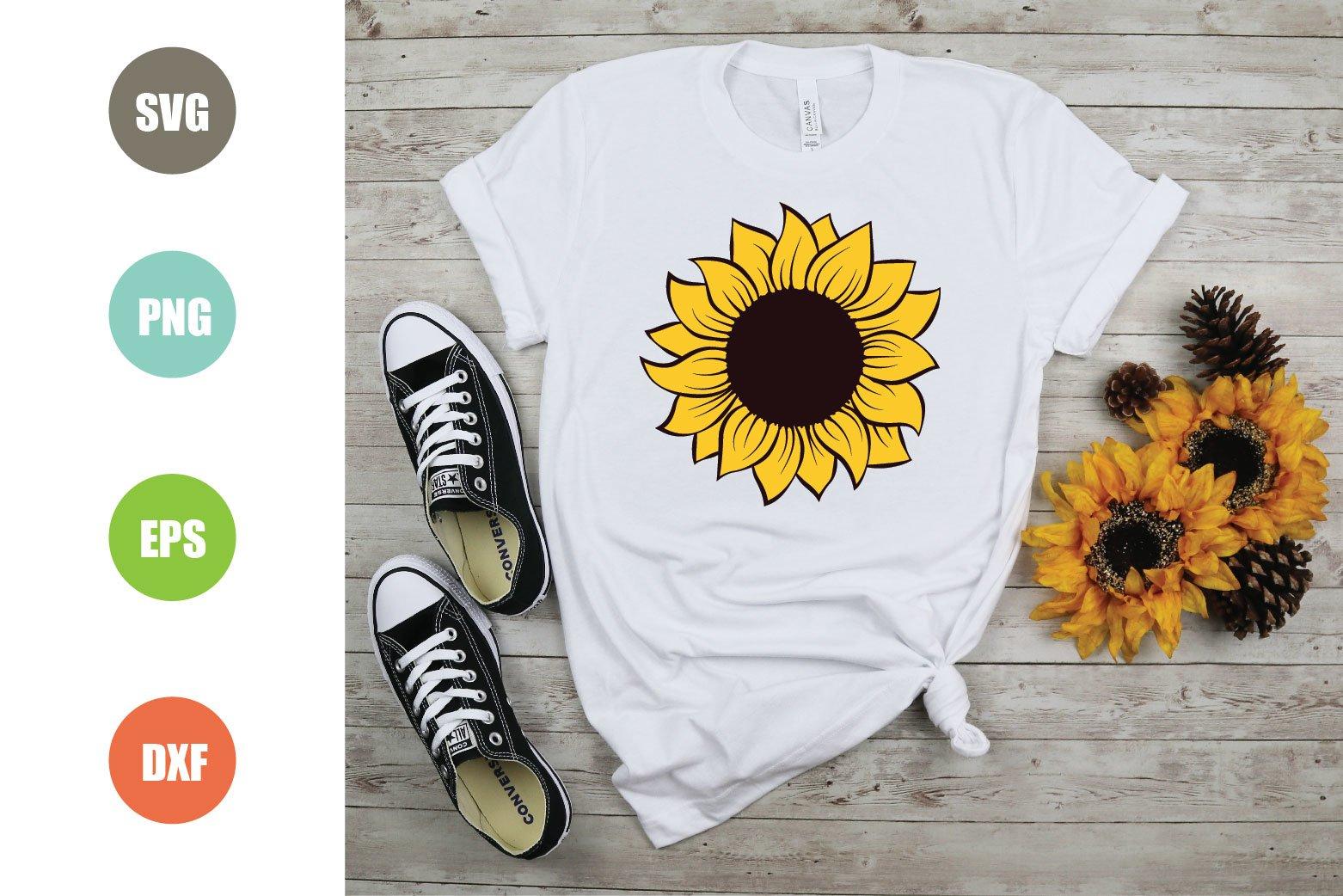 Sunflower SVG, Sunflower Monogram SVG example image 2