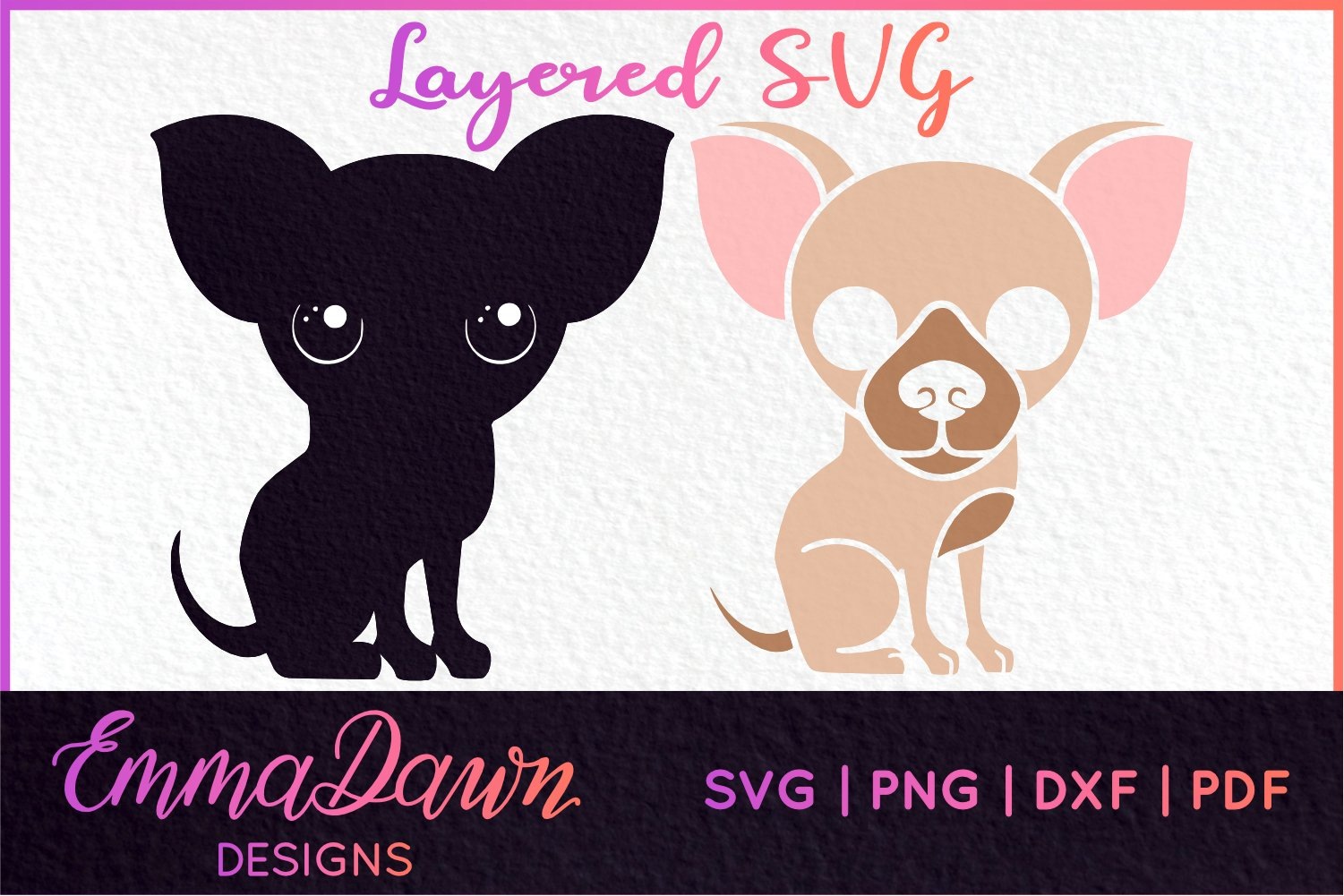 8 CHIHUAHUA DESIGNS SVG, DXF, PNG, PDF, FCM example image 2