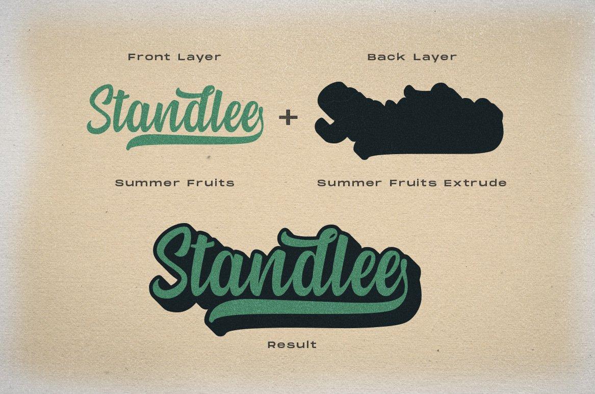 Summer Fruit - Logo Font example image 4