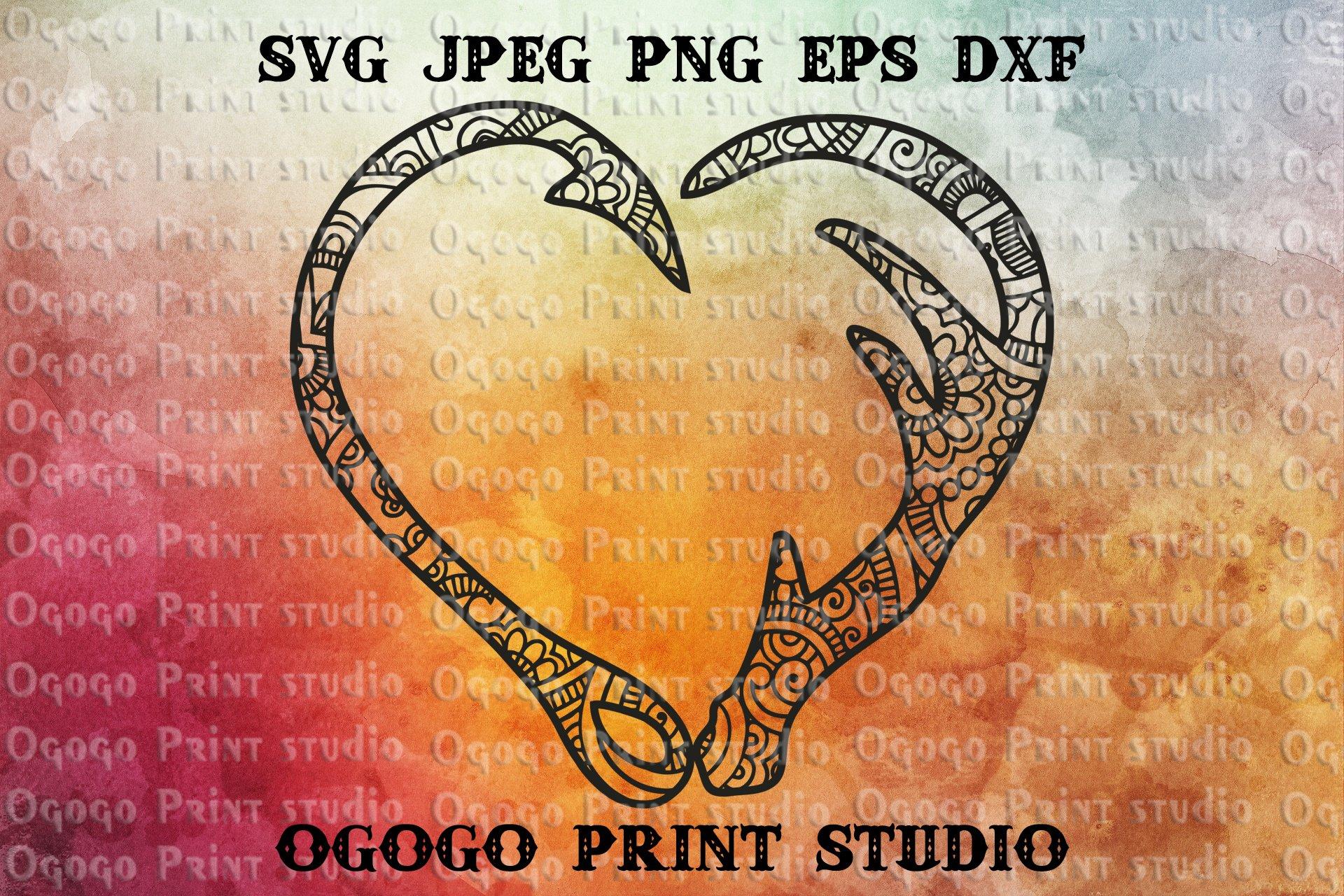 Download Hunting Svg Zentangle Svg Heart Svg Fishing Svg Mandala 227293 Cut Files Design Bundles