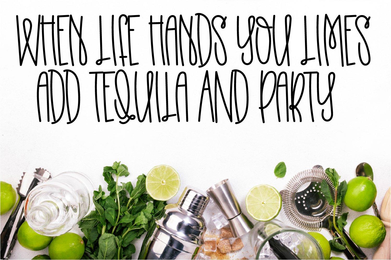 Homemade Lemonade - A Swirly Tall Font example image 6