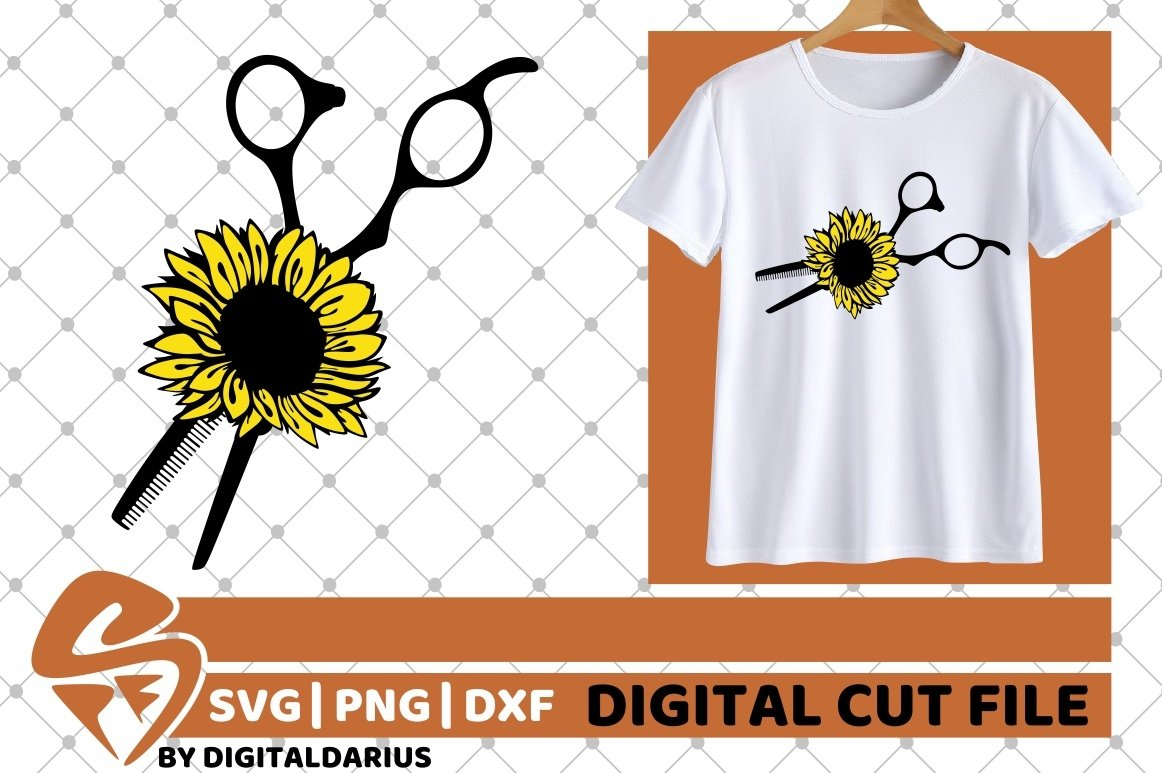 6x Hairdresser Designs Bundle svg, Sunflower, Hairstylist example image 3
