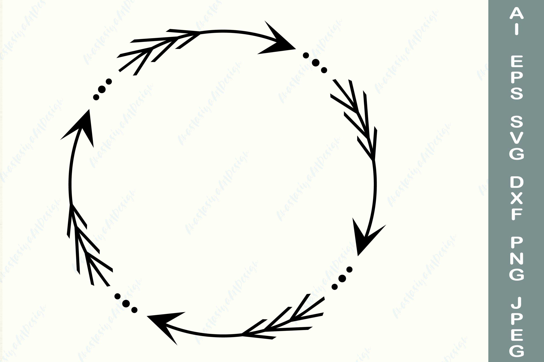 arrow circle frame svg arrow wreath dxf circle monogram 735759 illustrations design bundles arrow circle frame svg arrow wreath dxf circle monogram