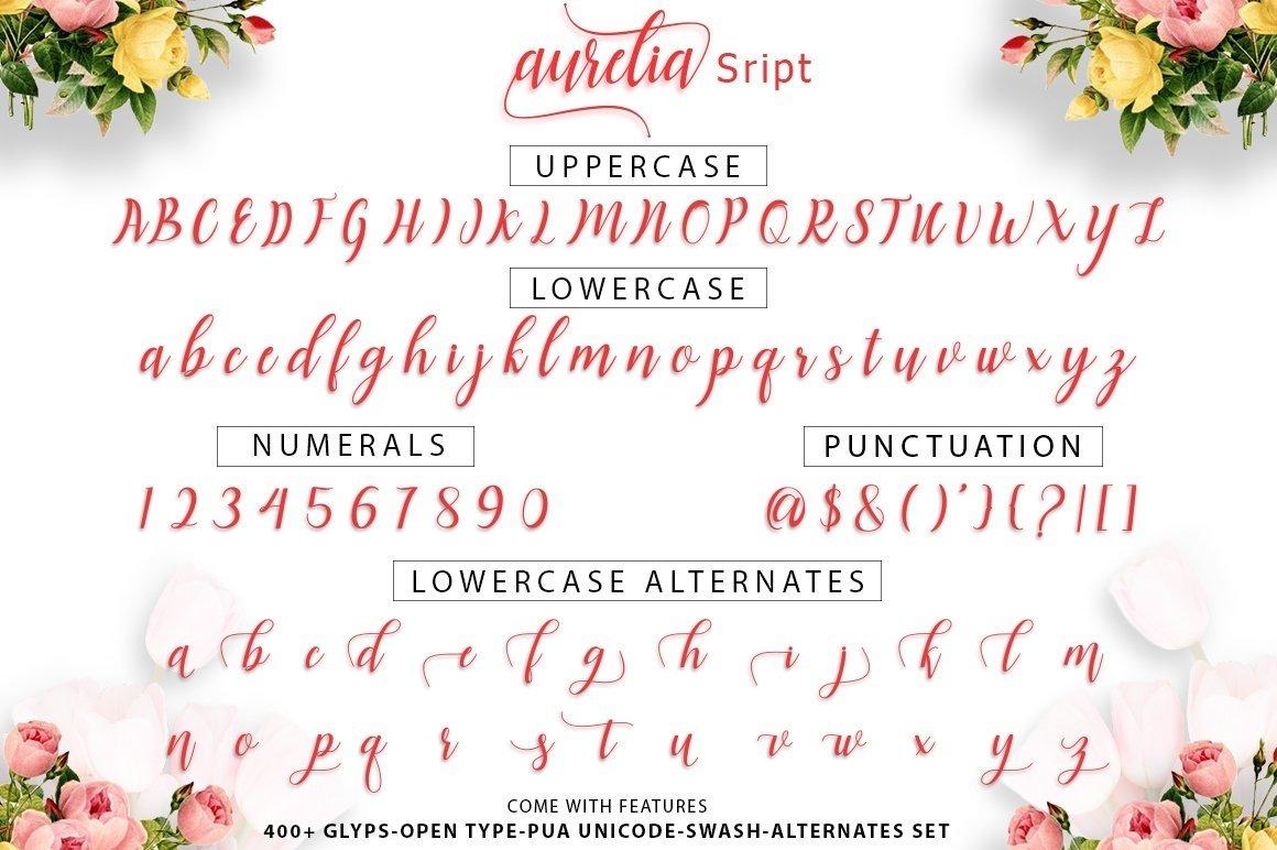 Web Font Aurelia Script example image 9