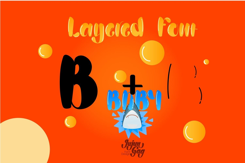 Bigfoot Typeface Layered Font example image 6
