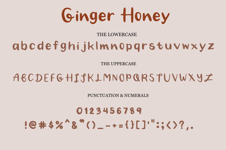 Ginger Honey -Handwritten Script font example image 8