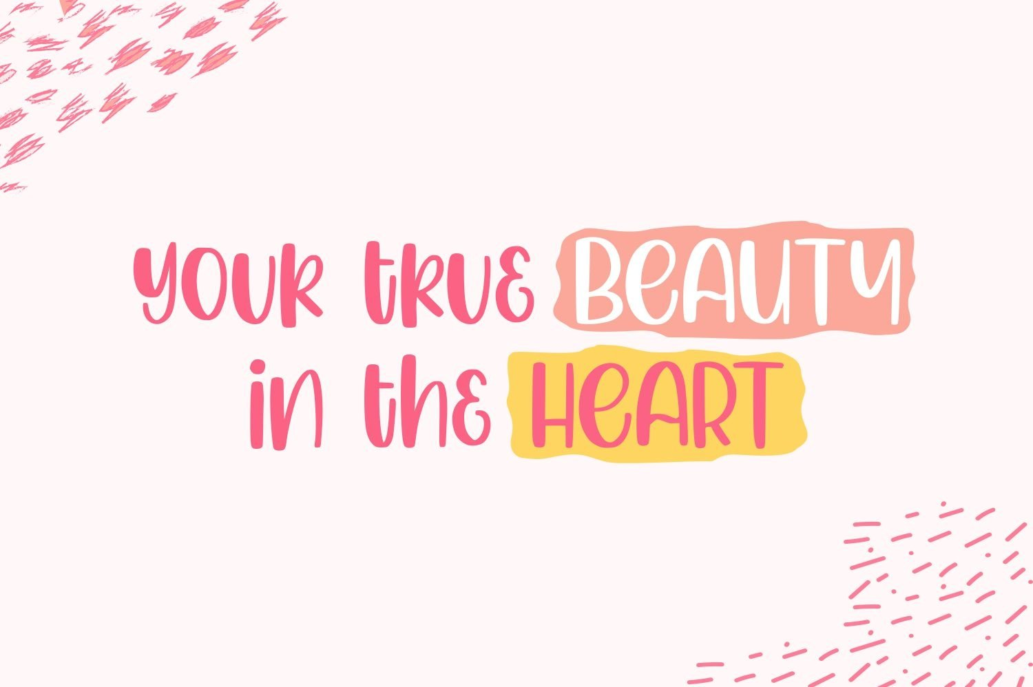 Hello Girly - a Girly Handdrawn Font example image 2