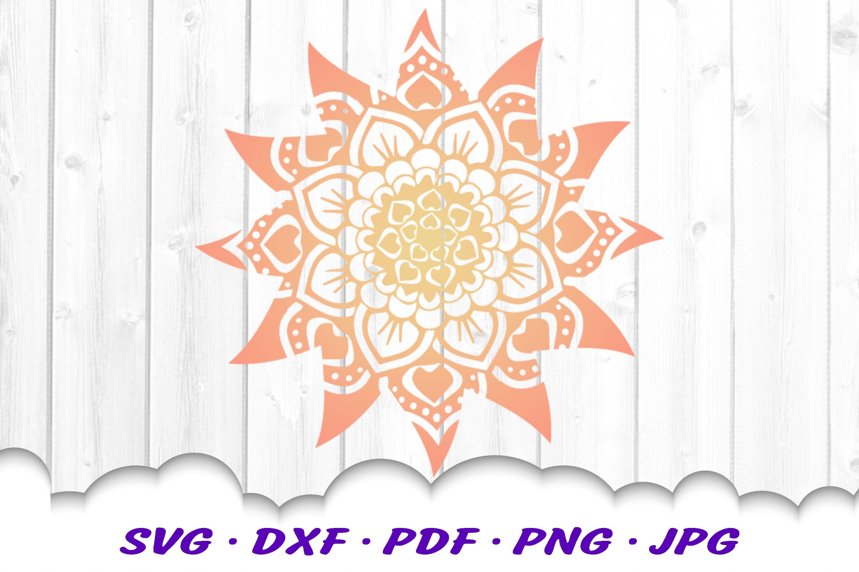Mandala Sun Floral Celestial SVG DXF Cut Files example image 3