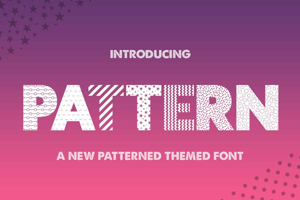 Pattern Silhouette Font example image 1