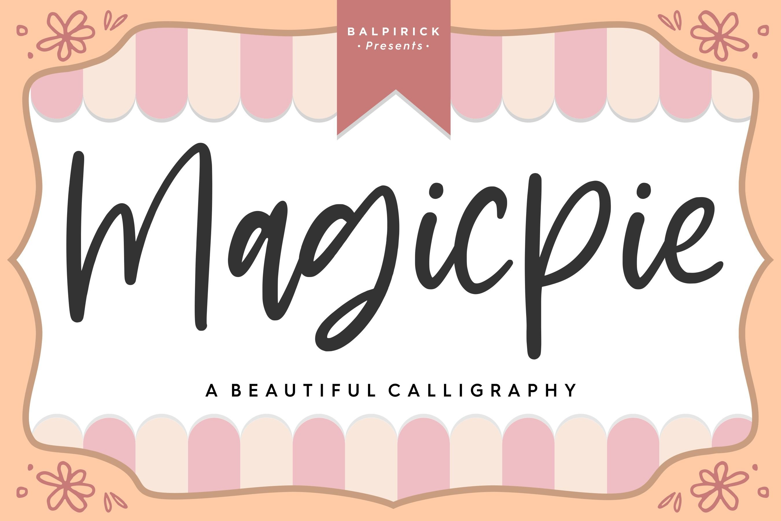 Magicpie Beautiful Calligraphy example image 1