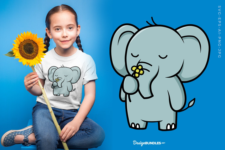 Elephant with flower example image 1