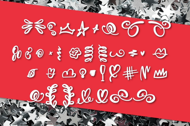 FB - Positively - A Script Font & Dingbat Font Duo example image 8