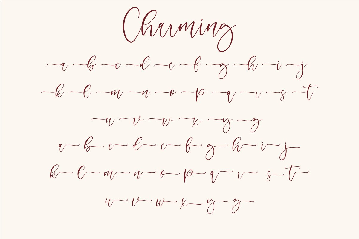 Charming - chic modern script font example image 10