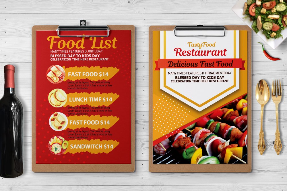 Restaurant Food Menu Template example image 2