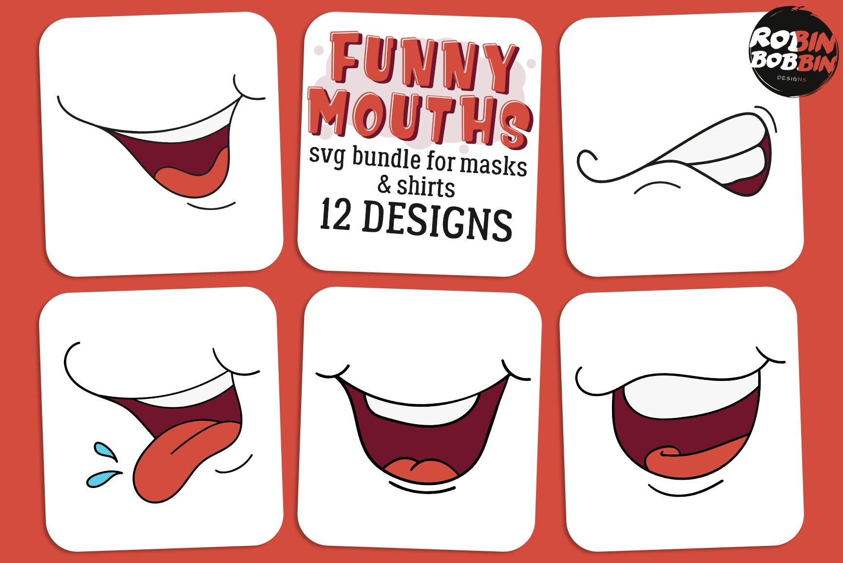 Face Mask Svg Bundle Funny Faces Svg Smiles Svg 552693 Illustrations Design Bundles
