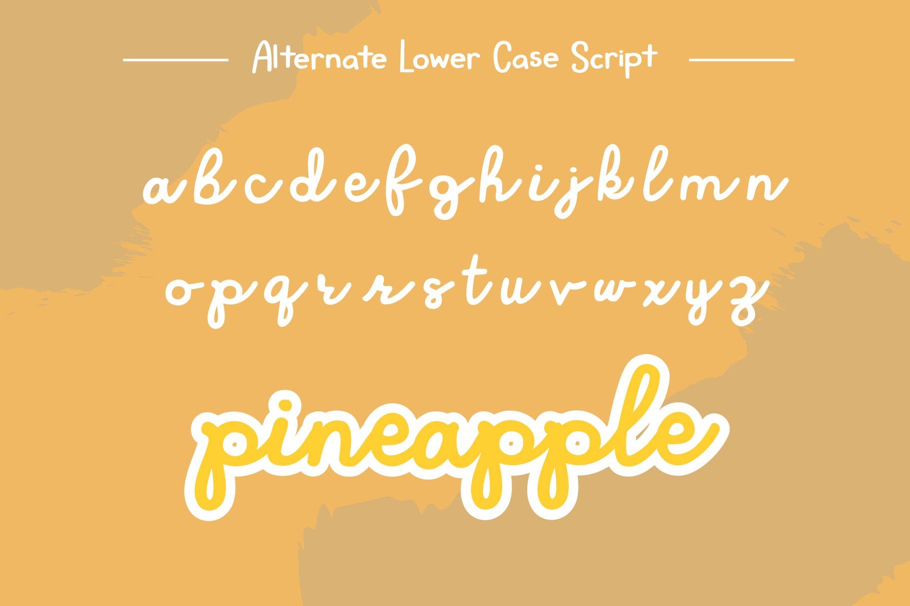 Roadside Pineapple Font Duo example image 4