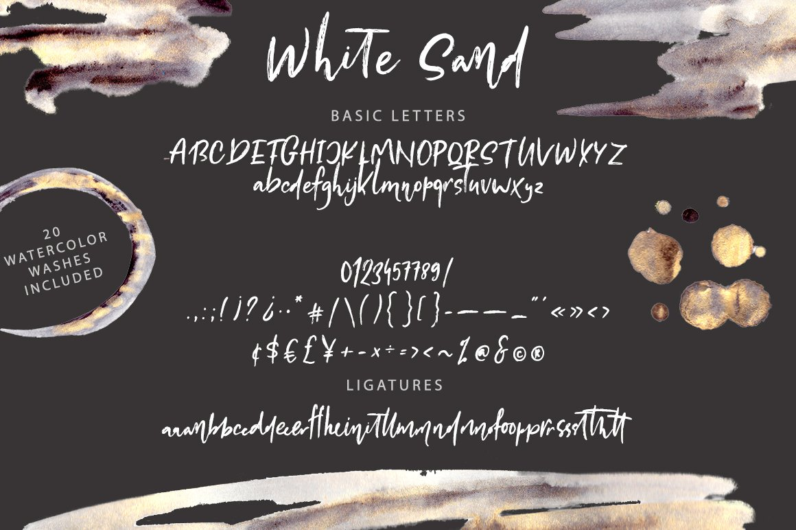 White Sand. Hand Drawn Textured Font example image 9