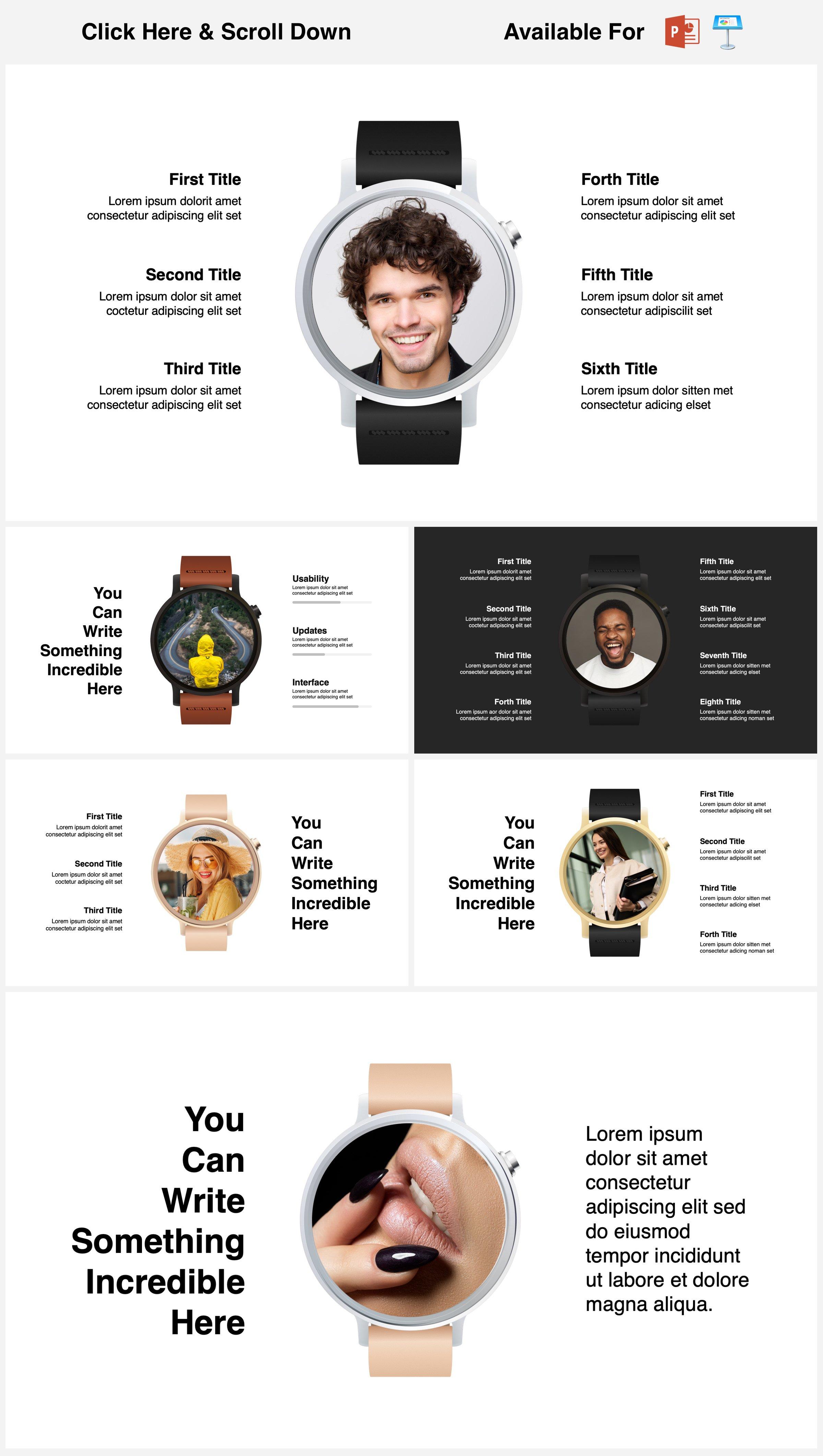 Animated Mockups Presentation Bundle. Infographic Templates. example image 30