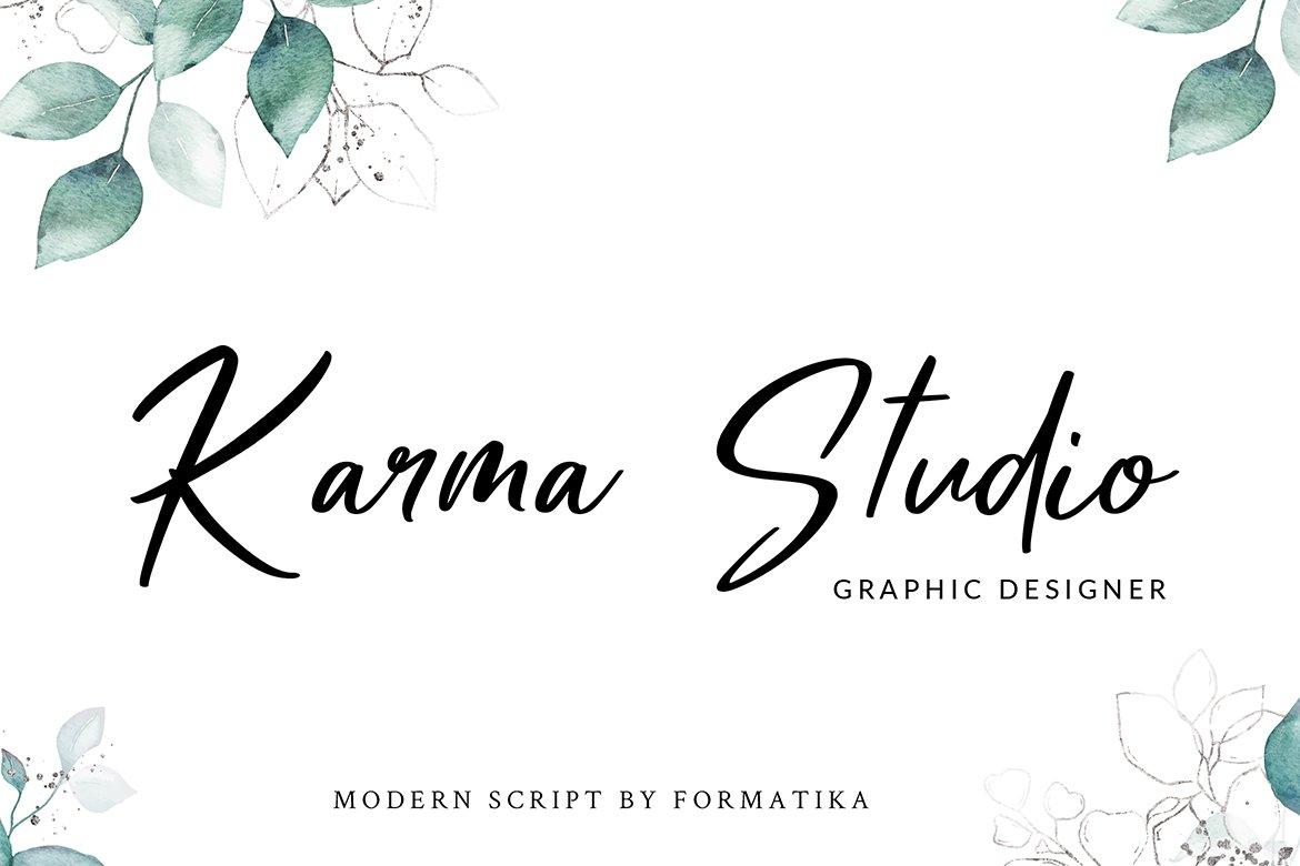 Mellany Modern Script Font example image 5