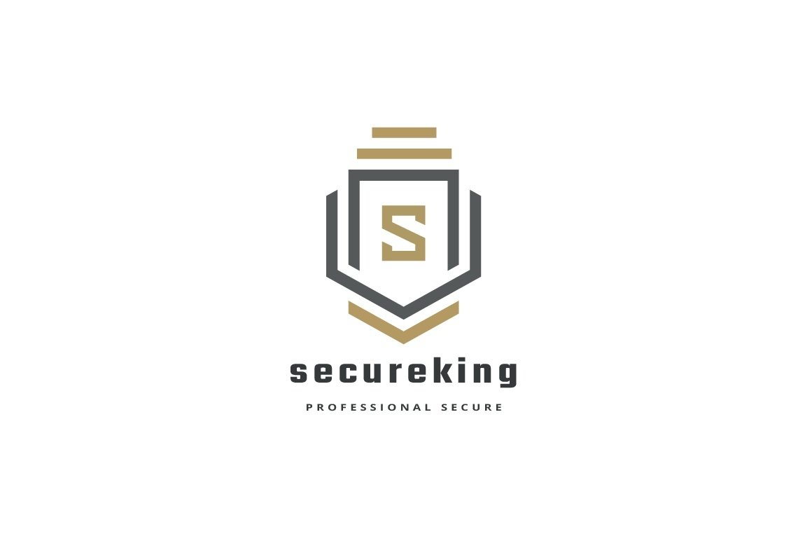 Secure King Letter S Logo example image 3