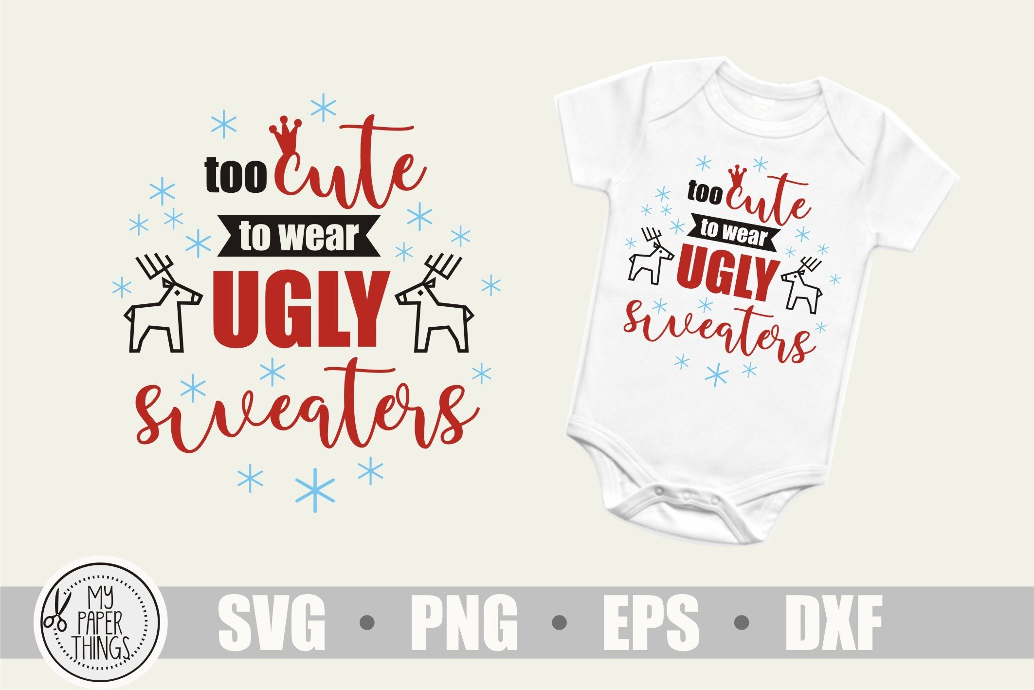 Baby Christmas svg, Ugly Sweaters svg example image 2
