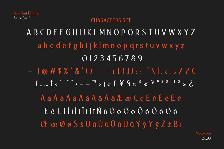 Ben Sans Serif Font Family - 18 Fonts example image 12