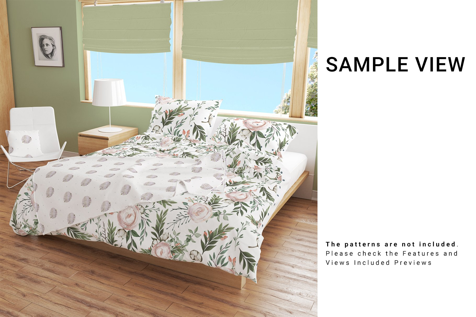 Bedroom Set - Bedding & Throw Pillow example image 6