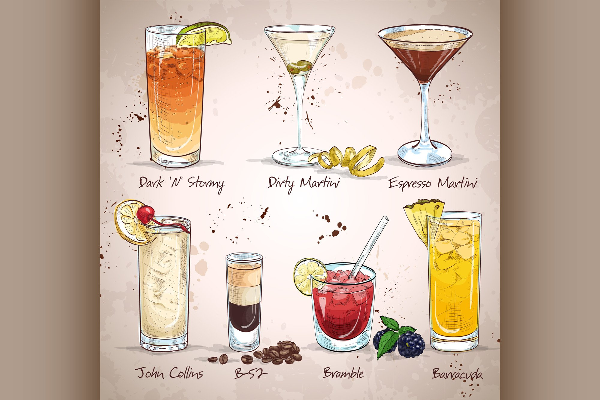 Contemporary Classics Cocktail Set example image 1
