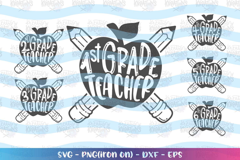 Teacher svg Bund svg Pack Back to school 1st-6th grade example image 2
