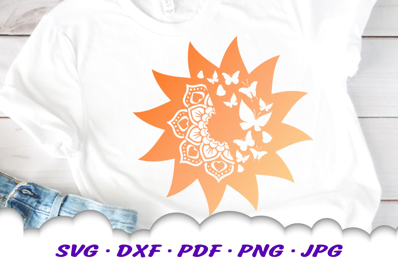 Mandala Sun Floral Celestial Summer SVG DXF Cut Files Bundle example image 4