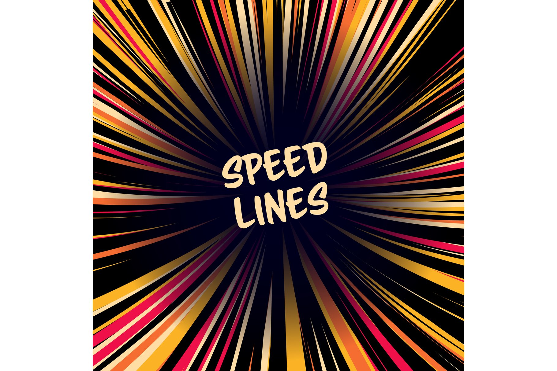 Manga Speed Lines Vector. Layout For Comic Books. Banner example image 1