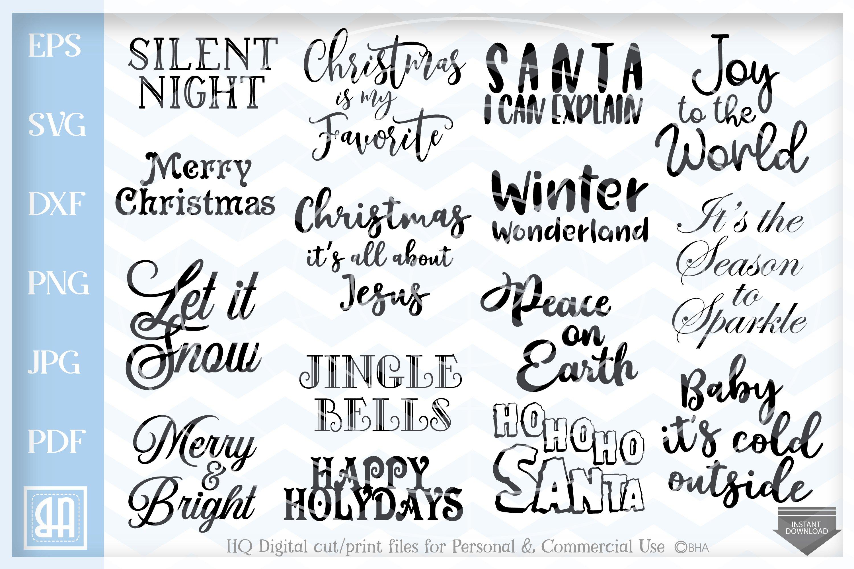 Christmas Quotes Bundle Svg Christmas Sayings Bundle Svg 160224 Svgs Design Bundles