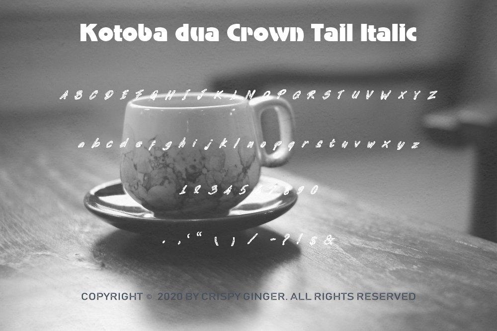 Kotoba Dua - 22 Font styles and 150 Swashes example image 9