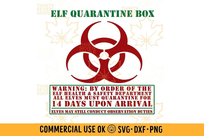 Elf Quarantine Box 14 Days 1007102 Cut Files Design Bundles