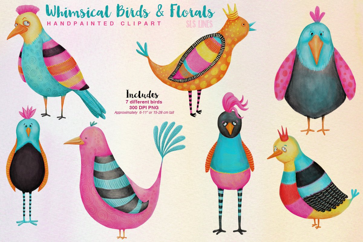 Big Animals & Birds Illustration Bundle example image 9