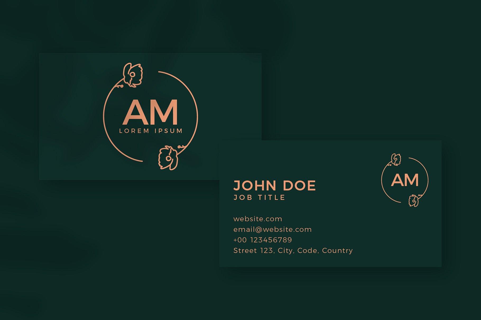 Monogram Logo & Business Card Templates example image 1