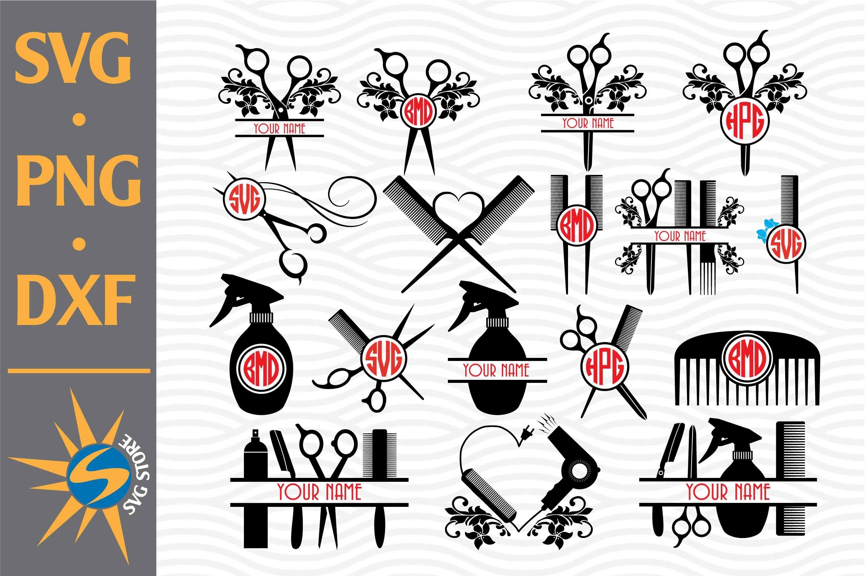 Download Hairdresser Monogram Svg Png Dxf Digital Files Include 755403 Cut Files Design Bundles