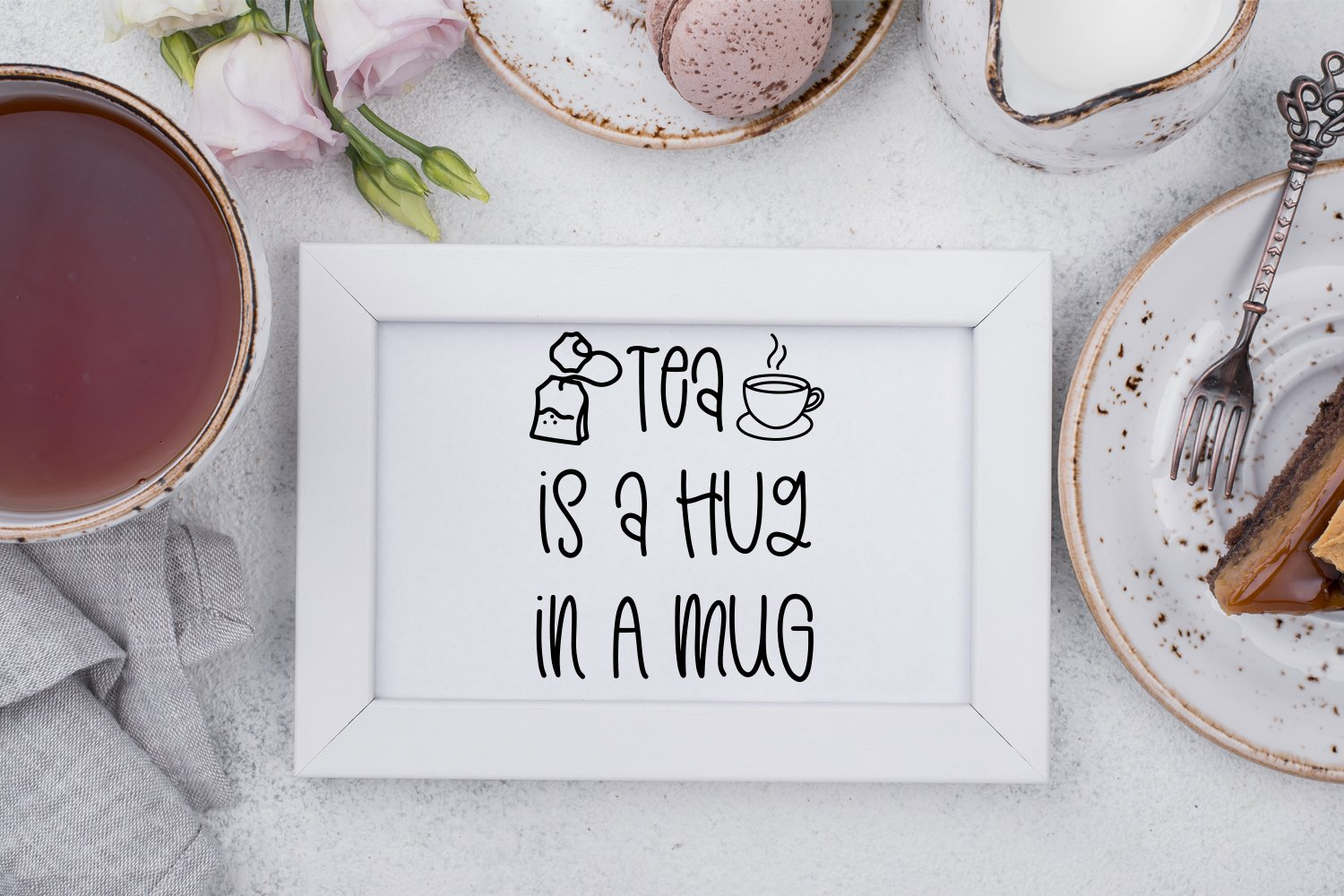 Teashop Font Duo With Tea Inspired Doodles example image 6