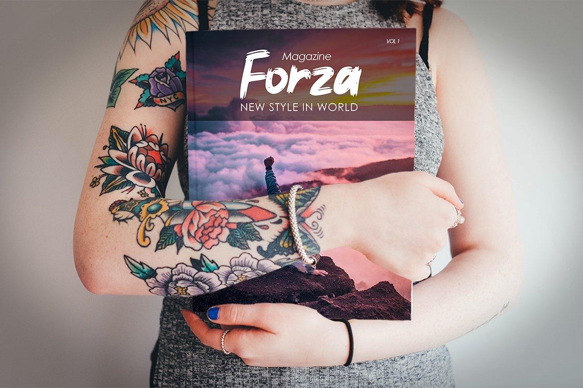 Forza - Brush Typeface Font example image 2