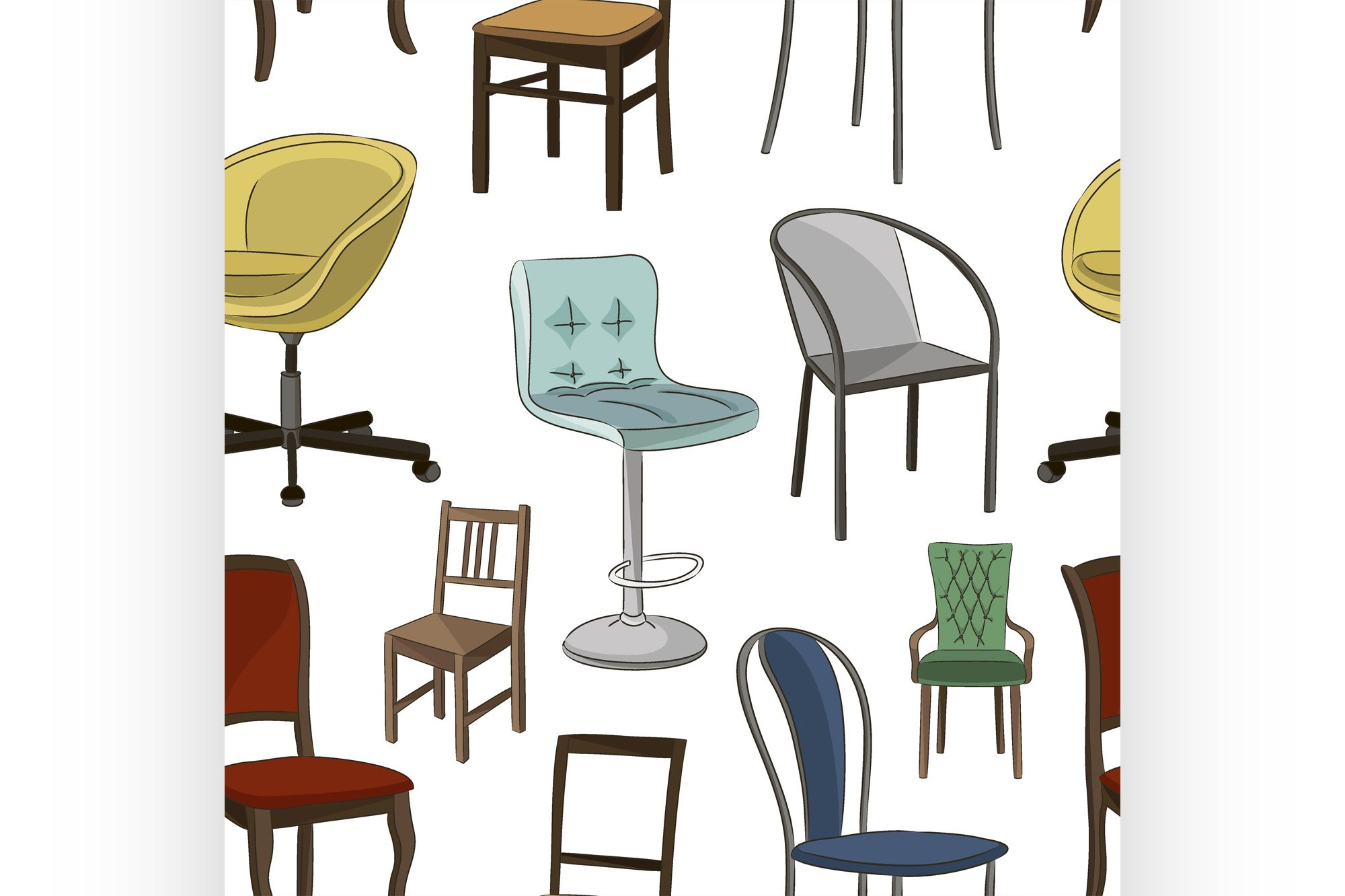 Set of chairs pattern example image 1
