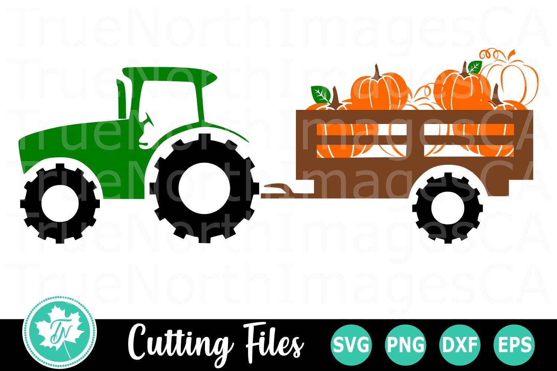 Pumpkin Tractor A Fall Svg Cut File 352878 Cut Files Design Bundles