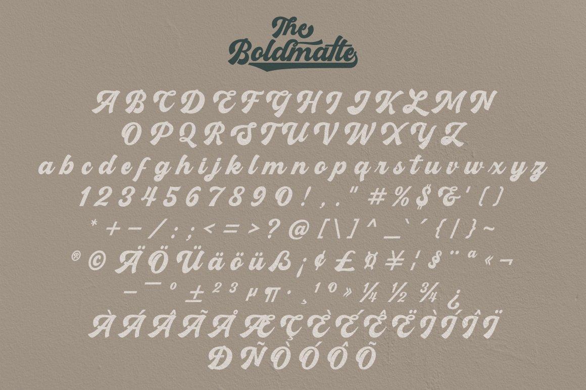 Boldmatte Bold Script Font example image 7