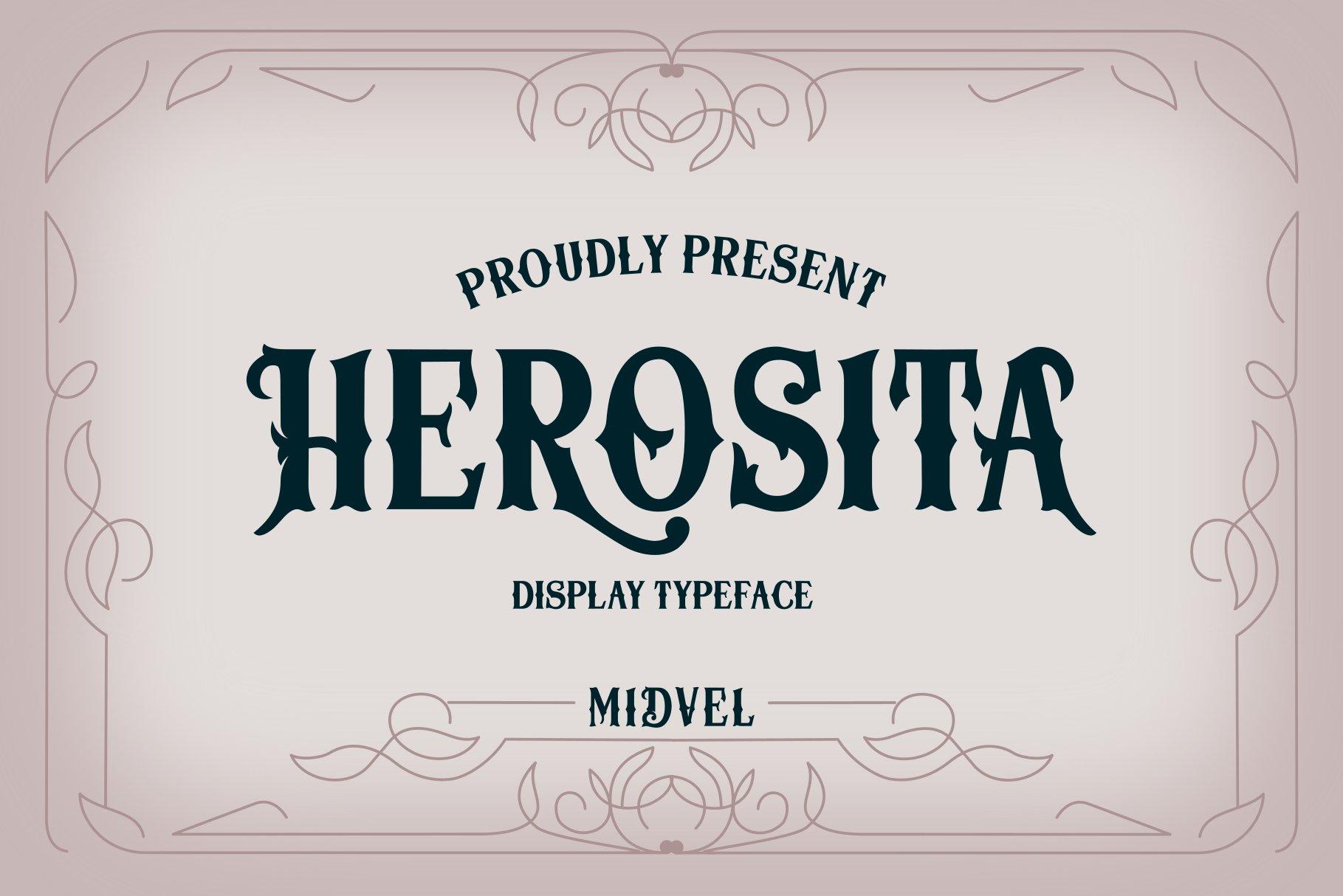Herosita Typeface example image 1